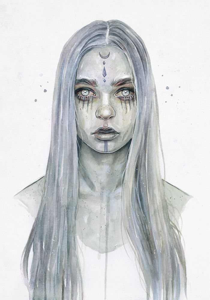 Watercolour, acrylic and pen on paper. By Tomasz Mrozkiewicz (on deviantart)