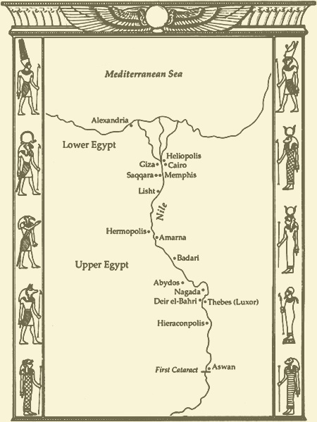 Printable Ancient Egypt Map Royal Ontario Museum Teach Ancient