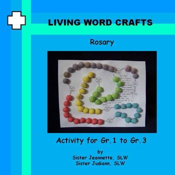 Rosary 3D using Magic Nuudles for Gr.1 to Gr.3Teach the prayers of the rosary and make the picture 3D using Magic Nuudles or children can color the beads. Living Word Crafts on https://www.teacherspayteachers.com/Store/Living-Word-Crafts