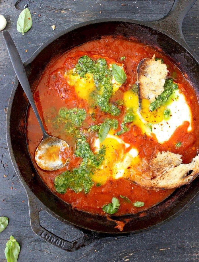 Sicilian Eggs In Hell Recipe Uova in Purgatorio | CiaoFlorentina.com @CiaoFlorentina