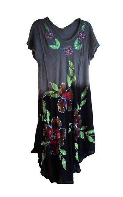 Manta Guajira - noir brodé Robe Wayuu