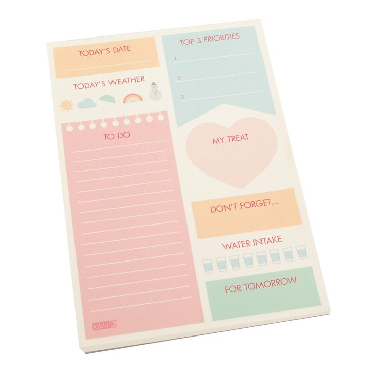 Stay on top of daily tasks with this handy and fun kikki.K.Mini Daily Planner Pad. www.kikki-k.com