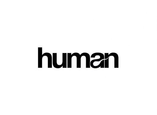 Human.: Graphic Design, Creative Logo, Logo Design, Inspiration, Negative Space, Human Logo, Logos Design, Clever Logo