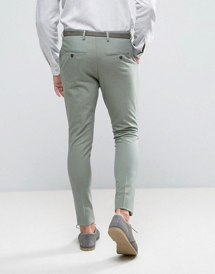 Selected Homme Super Skinny Suit Pants - Green