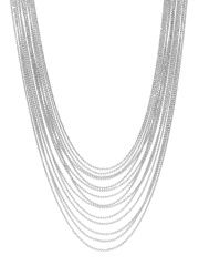 Silver-Plated Matinee Necklace Price: INR 1177.3537 | India