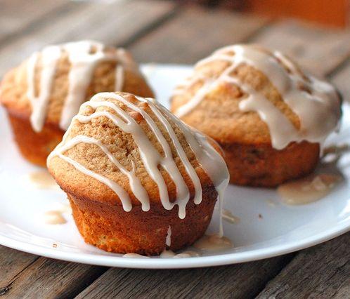 Vanilla Glazed Apple Cinnamon Muffins