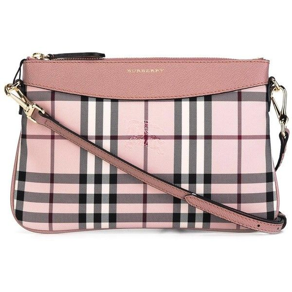 Burberry checked crossbody bag (6.411.070 IDR) ❤ liked on Polyvore featuring bags, handbags, shoulder bags, pink, burberry handbags, burberry shoulder bag, pink shoulder bag, cross body and print handbags