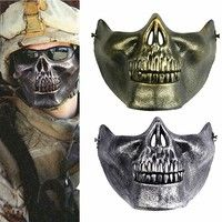 Geek | Costume Halloween Airsoft Party Game Skull Motorcycle Skeleton Airsoft Hunting Biker Ski