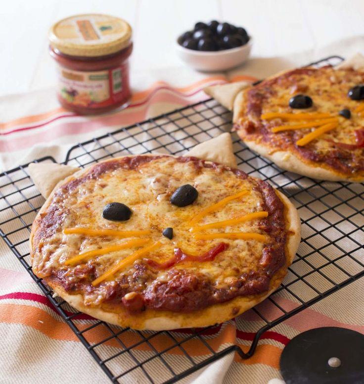 Pizzas chat - les meilleures recettes de cuisine d'Ôdélices