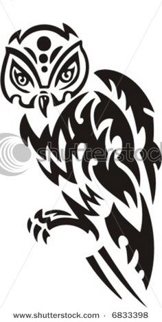 Tattoos Zone: Tribal Owl Tattoo Designs