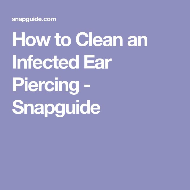how to clean old ear piercing