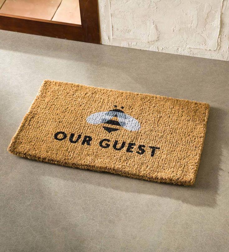 Bee Our Guest Coir Doormat | VivaTerra | Door mat diy ...