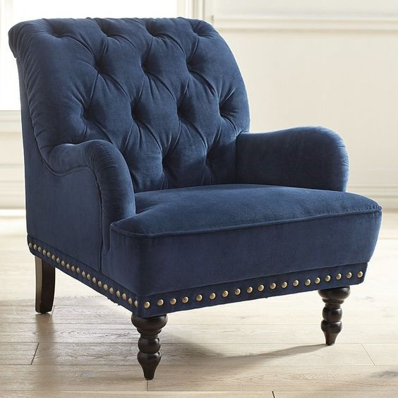Best Pier 1 Imports Chas Blue Velvet Armchair 430 Liked On 400 x 300