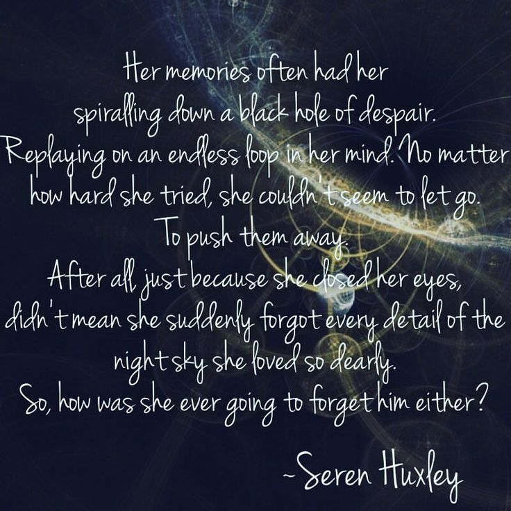 How would she ever forget him?