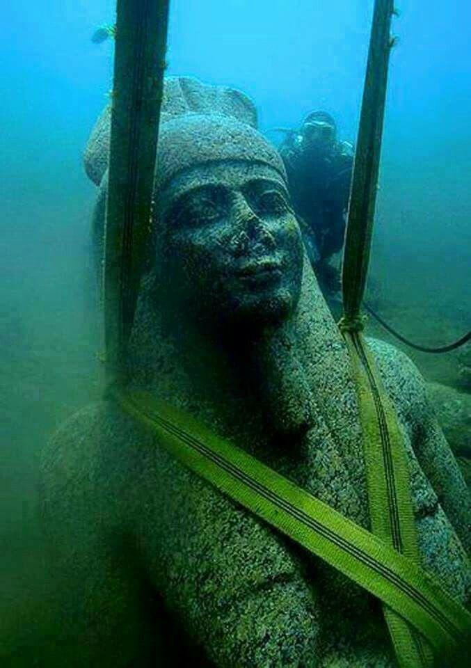 Best Héracléïon Thônis Canope Images On Pinterest - Explorers discover ancient 1200 year old egyptian city