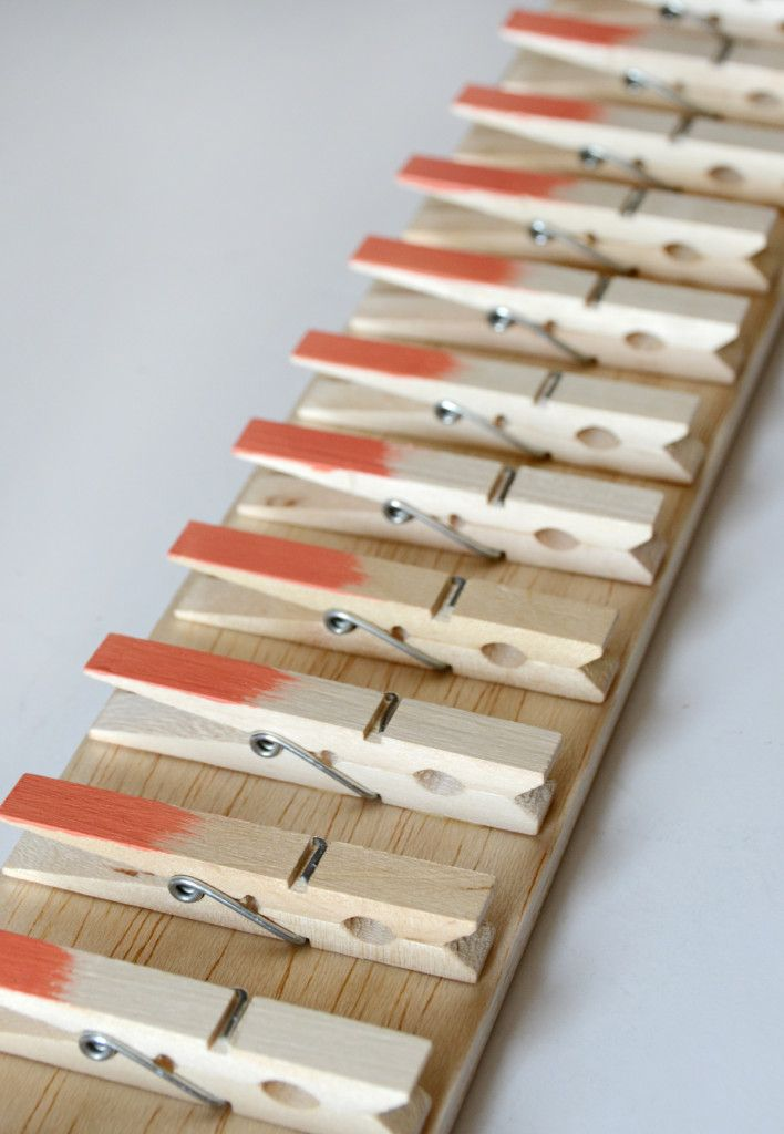 Clothespin Scarf Hanger Side