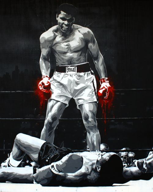 Boxing...sonny liston down for the count.