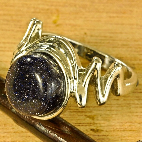 'Sun Sitara Ring in Navy size 7 3/4' is going up for auction at  7pm Thu, Dec 20 with a starting bid of $11.