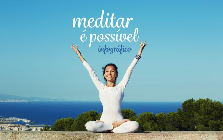 Você sabia que a meditação ajuda na concentração e equilíbrio da mente e do corpo? Encontre muitas dicas em formato de infográfico para compartilhar!