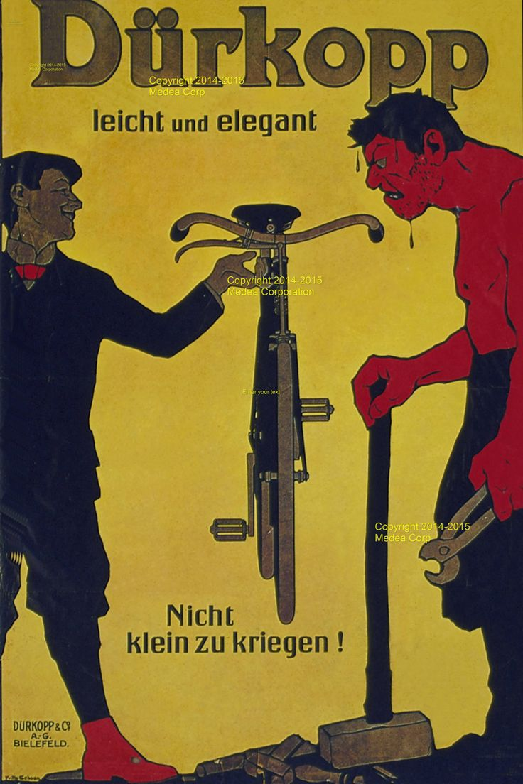 Durkopp & Co Cycles Ad/poster - Germany