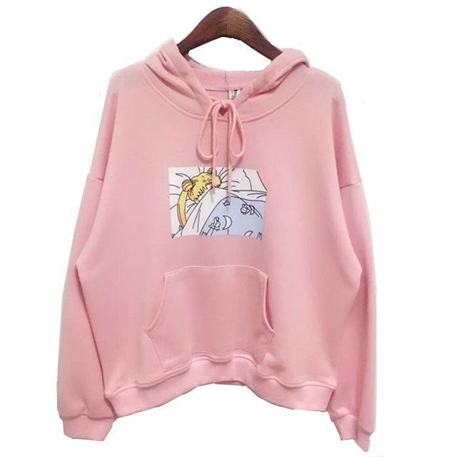 Check lastest price 2017 new Pink/White Women Hoodies Japanese Sailor Moon Printed Pullover Girls Kawaii Cute Harajuku Sweatshirt Loose Full sleeve just only $26.85 with free shipping worldwide  #womanhoodiessweatshirts Plese click on picture to see our special price for you