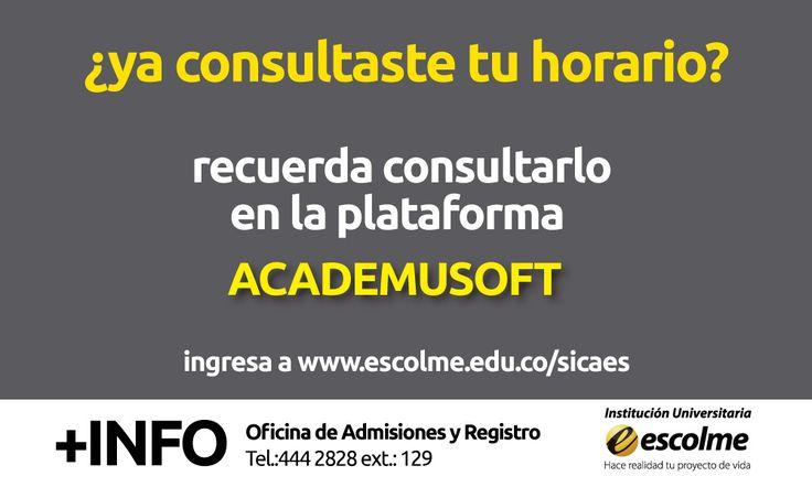 !Consulta tu horario en el portal académico Academusoft!