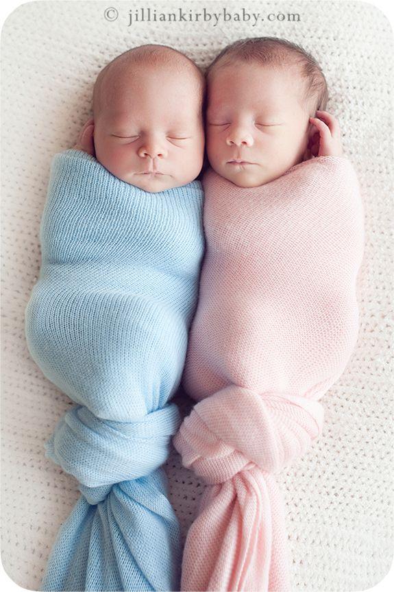 twins--boy-girl, blue-pink