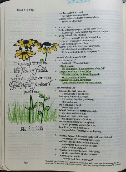 Isaiah 40:8 - by Paula-Kay Bourland