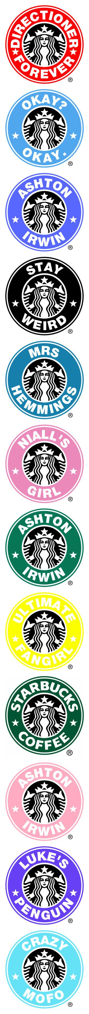 """""""starbucks"""" by miss-971 ❤ liked on Polyvore featuring one direction, backgrounds, logo, other fillers, filler, starbucks logos, other, 5sos, ashton and fillers"""