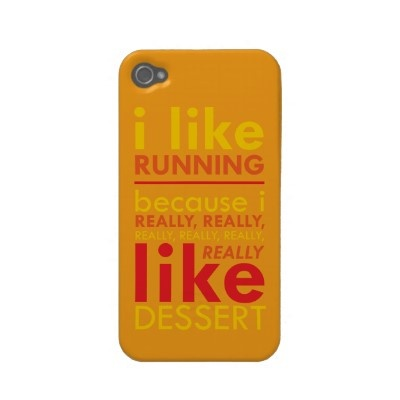 I like running because I really .... like dessert! iPhone case $39.35