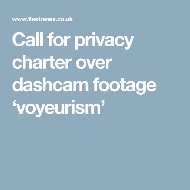 Call for privacy charter over dashcam footage 'voyeurism'