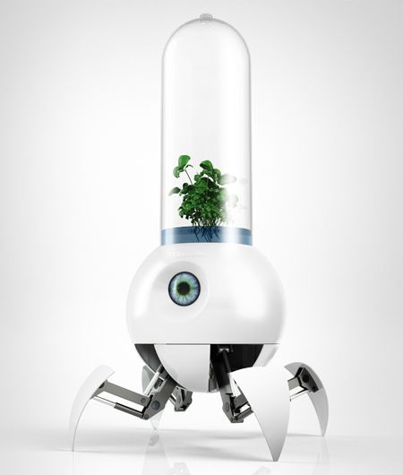 #myPetRobot helps earth plants grow on Mars