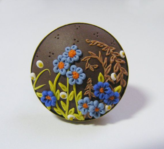 Late Summer Flowers Ring   Handmade Jewelry by TheClayFlorist, £22.99