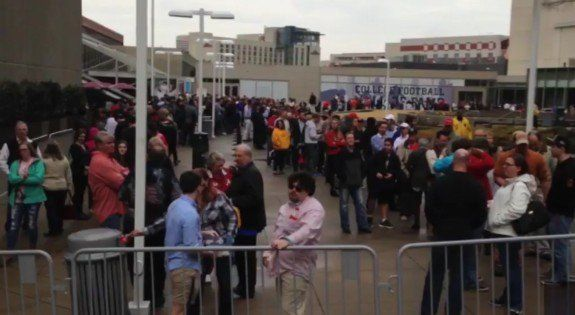 MASSIVE LINES ALREADY FORMING Three Hours Early to See DONALD TRUMP In Atlanta