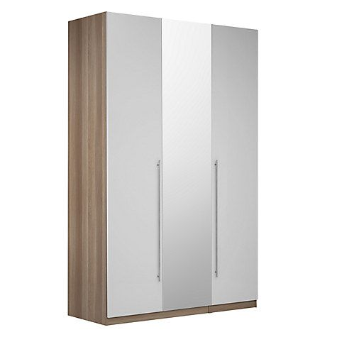 Buy House by John Lewis Mix it T-Bar Handle Triple Wardrobe with Central Mirror, House Smoke/Grey Ash Online at johnlewis.com