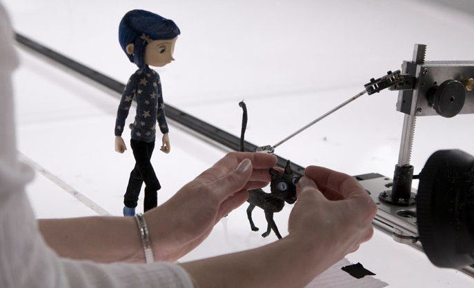 Coraline in the making (I think this is the part when they were walking through the Nothing)