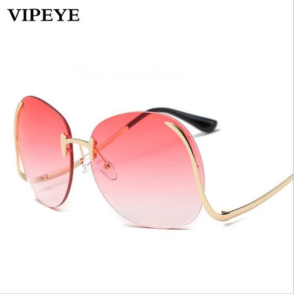 #FASHION #NEW Colorful Ocean Sheet With Curved Legs Sunglasses Fashion Metal Lady Women Sun Glasses European And American Fashion Sunglasses