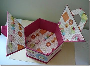 Boite hexagonale macarons 17-Michèle Gu                                                                                                                                                     Plus