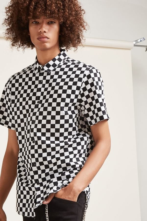 21 MEN Classic Checkered Print Shirt
