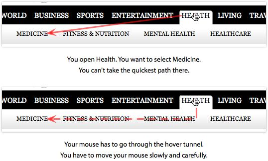 Why Hover Menus Do Users More Harm Than Good