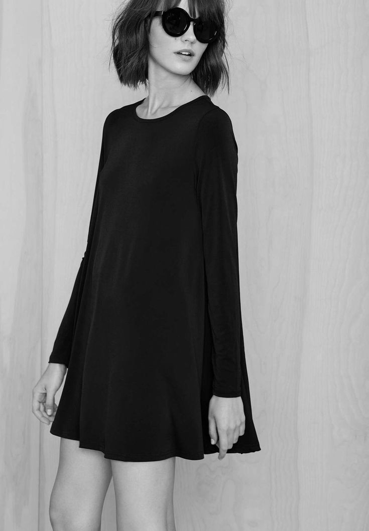 Little Black Dress - minimal fashion; chic minimalist style