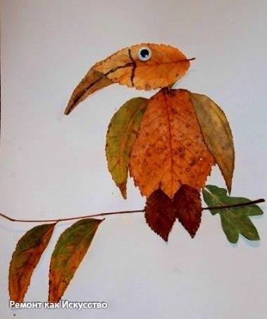 Творчество с детьми. Поделки из листьев.