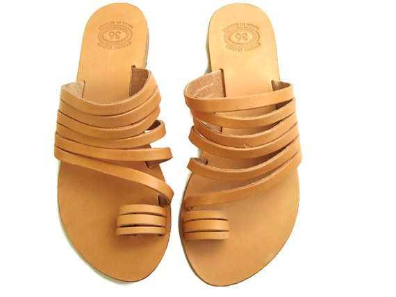 Strappy sandals Handmade sandals Greek sandals by OhSoGreek