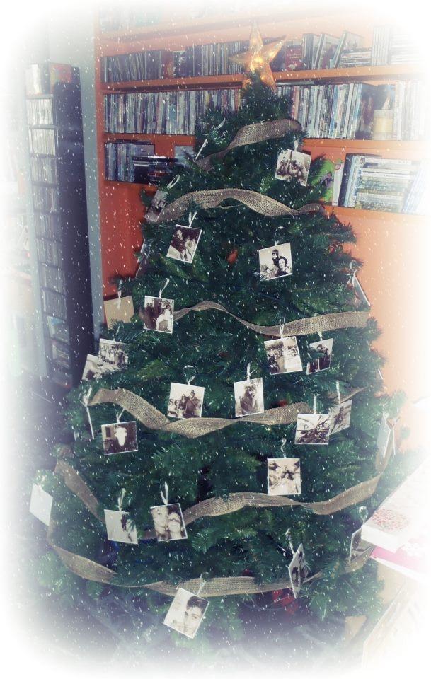 Il mio Albero di Natale 2012... al posto delle palline... solo foto di AMICI!! Buon Natale!
