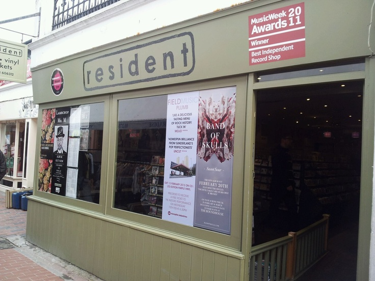 Resident is an award-winning independent record shop of friendly music lovers/geeks set in the heart of the Brighton lanes. The place to go for friendly music advice, local tickets, and thousands of records. www.resident-music.com