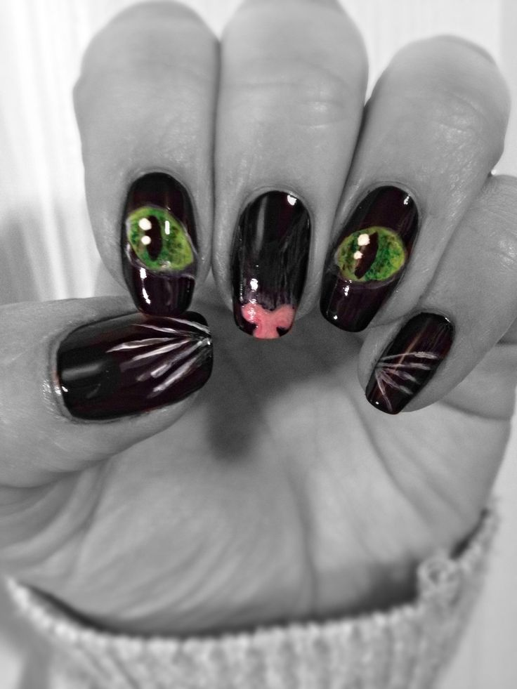 Best 25 cat nails ideas on pinterest cat nail art kitty nails my kitten or cat nail art cat nails pretty prinsesfo Gallery