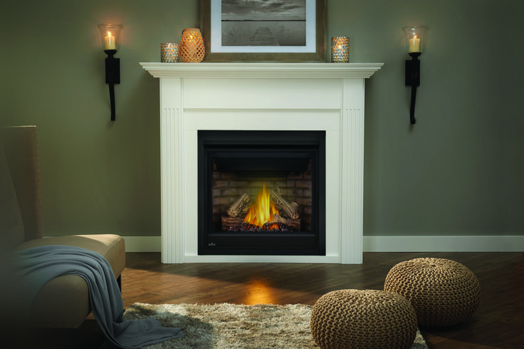The Napoleon Ascent™ 36 Gas Fireplace adds ambiance to any room and is perfect for builders and homeowners alike. The shallow depth allows for versatile installations where space is at a premium and is also ideal for corner applications.