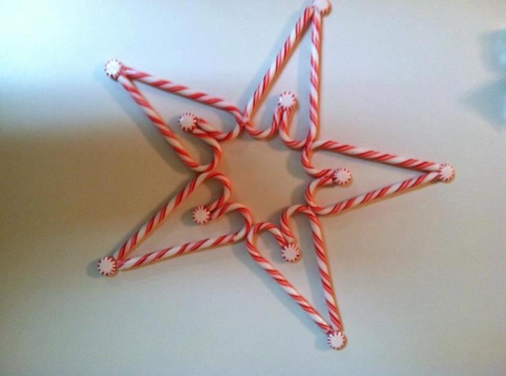 Cute candy cane star diy crafts pinterest