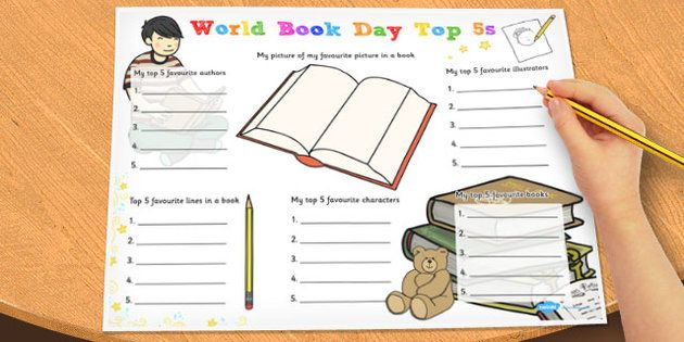 World Book Day Top 5s Activity - twinkl
