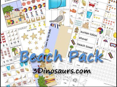 Educational Freebie: Printable Beach Preschool Pack